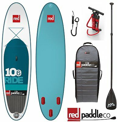 Red PADDLE Co RIDE Set 10.6' STAND UP PADDLE SURFBOARD INFLATABLE PADDLE PUMP