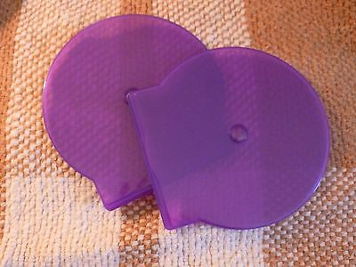 10 Pack Slim Purple C Shell Clam Case CD DVD Poly Jewel Cases