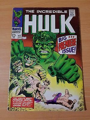 The Incredible Hulk #102 ~ VERY FINE VF ~ (1968, Marvel Comics)