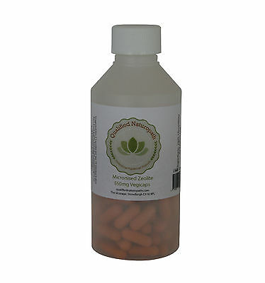 Micronized Zeolite - food grade - 550mg veg caps-  various sizes available