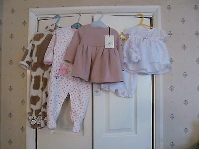 Baby Girls Clothes Bundle Age 6 - 9 Months No Added Sugar Babyc Primark (Lot 3)
