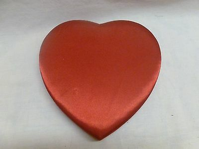 """Red Satin Heart Chocolate Candy Box Valentines Decor 9"""""""