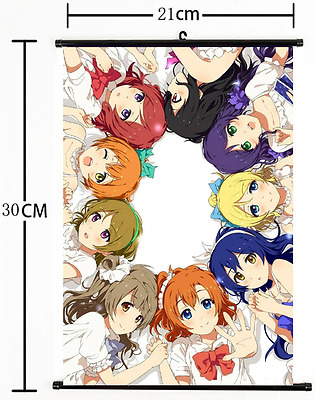 Hot! Japan Anime Wall Scroll love live all members Poster 1205