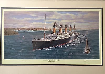 White Star - Titanic Limited Edition Print By Simon Fisher signed Rare 278/850