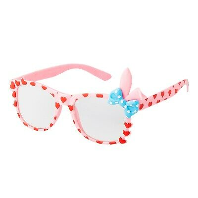 Pink Bunny Ear Style Kids Costume Glasses Perfect for Parties Hipsters Nerd UK