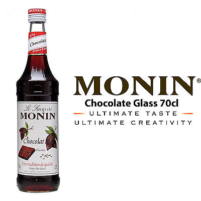 MONIN Coffee Cocktail Syrups - 70cl Glass CHOCOLATE Syrup - USED BY COSTA COFFEE