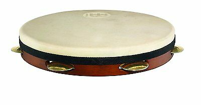 "Meinl Percussion 12"" Rubber Wood Pandeiro with Hand Hammered Brass Jingles"