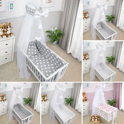 Crib Bedding Set Pillow Duvet Cover Bumper Canopy Cradle Many Designs