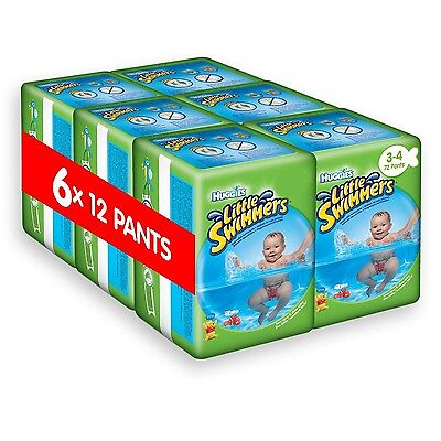 Huggies Little Swimmers Disposable Swim Nappies Size 3-4 - 72 Pants Total