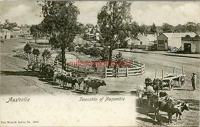 Printed Postcard Of The Township Of Nagambie, Victoria, Australia, Wrench Series