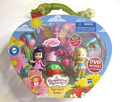 BNISP Strawberry Shortcake Sun Lovin' Garden CHERRY JAM & Lemon set DVD retired!