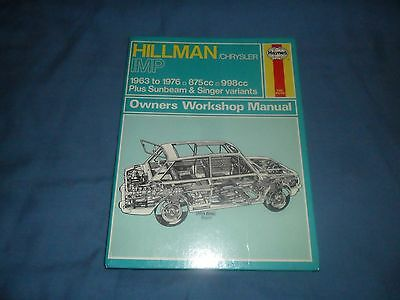 HILLMAN IMP INC SUNBEAM & SINGER VARIANTS - 875cc & 998cc - 1963 to 1976.