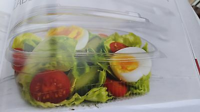 Oval Salad Boxes  Clear Plastic Disposable Takeaway Packaging Catering 25,50