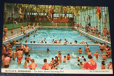 Butlins Minehead 3M21 The Indoor Heated Swimming Pool Old Holiday Camp Postcard