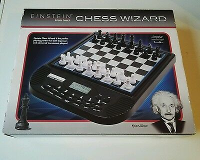RARE BOXED Excalibur Games Electronic Einstein Chess Wizard 100% COMPLETE TESTED