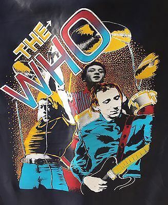 Vintage 80's Concert The Who Fabric Poster Banner Flag
