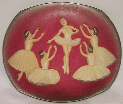 Very Rare Bossons Wall Plaque With Ballerinas