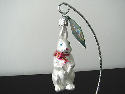 Old World Christmas Easter Bunny With Bow #12075 NEW