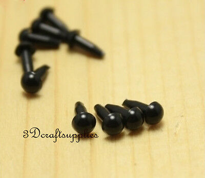 toy eyes safety eyes doll eyes plastic toy dolls craft 50 pcs black 4 mm EA90