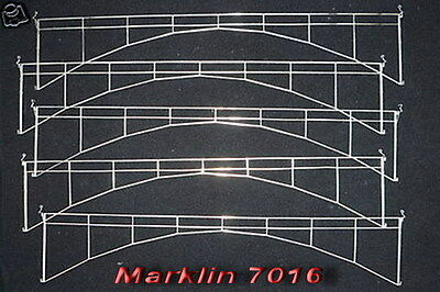 """MARKLIN H0 7016 - 5x Overhead Wire Catenary Section - 14"""" long / LN"""