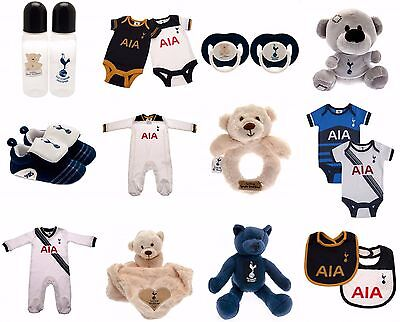 Tottenham Hotspur Baby Kit Baby grow Sleepsuit Spurs Baby Booties  Bibs Teddy