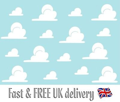 Toy Story Clouds Andy's Bedroom Wall Stickers Decals (Pre-Cut)