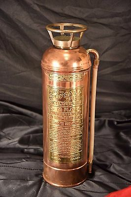BUFFALO Fire Extinguisher BRASS AND COPPER Complete & ORIGINAL Nice Example