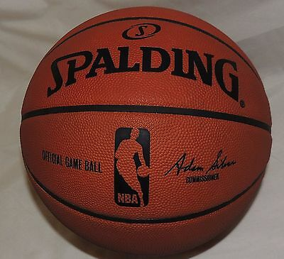 Spalding Official NBA Genuine Leather Indoor Basketball Adam Silver size 7
