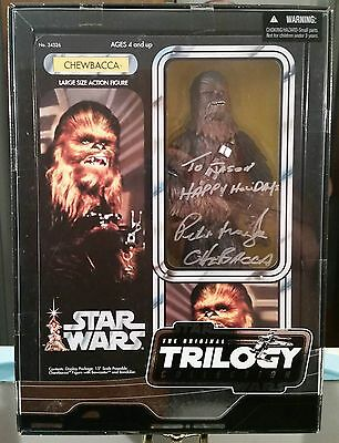 "Star Wars Otc Trilogy Coll. Autographed Peter Mayhew Large 15"" Chewbacca Figure"