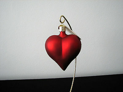 Old World Christmas Large Matte Heart Ornament #30014 NEW