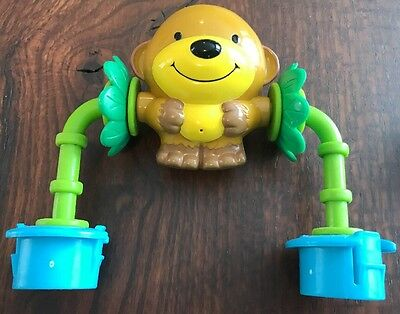 Evenflo Exersaucer MEGA Toy part JUNGLE SAFARI Switch a Roo Spinning Monkey Toy