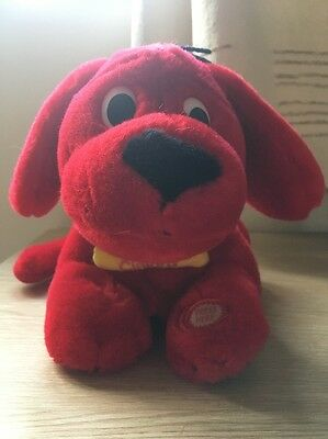 "Clifford The Big Red Dog Soft Plush Toy 12"" (Barking, Wagging Tail and Rolls)"