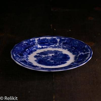Antique Flow Blue Plate Middleport Pottery Burgess and Leigh Nonpareil England