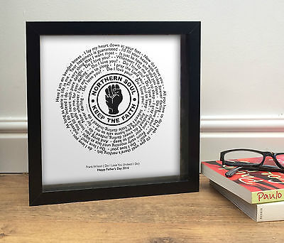 Birthday Gift for Dad | Northern Soul 7 inch Vinyl Single Record Print | Framed