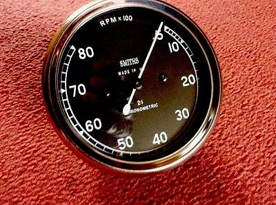 Smiths Replica Chronometric  Mechanical Revcounter 2:1 0-8000 Rpm