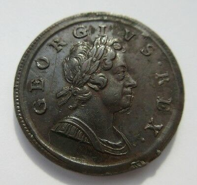 1718 George I Half penny coin
