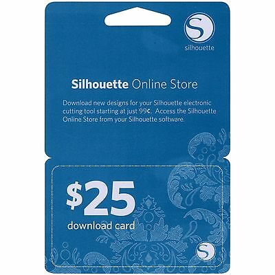 Silhouette $25 Download Card for Online Store  For all Silhouette machines