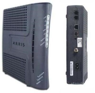 New ARRIS TOUCHSTONE TELEPHONE CABLE MODEM With Battery TM602G Fast shipping!!!