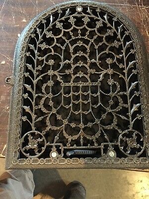 Ca 37 Antique Floral Arch Top Heating Grate