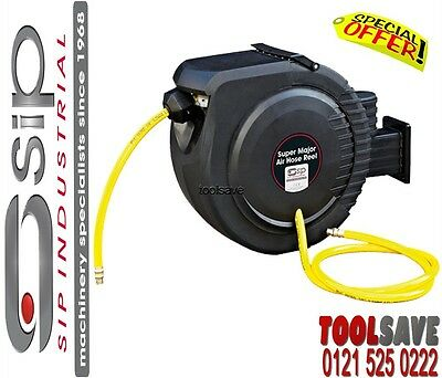 SIP 07974 Professional Super Major 15M Air Hose Reel With Wall Mount Bracket