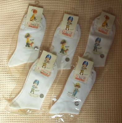 VINTAGE JAPANESE MOPPET SOCKS 5 (FIVE) PAIRS New in Packages*Ship to USA $6.99