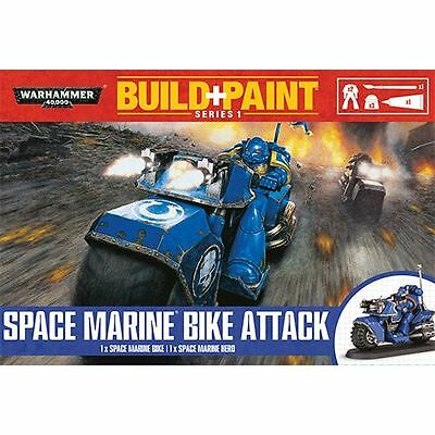 Warhammer 40K Build + Paint - Space Marine Bike Attack - Build and Paint NEW