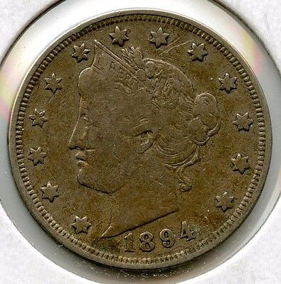 1894 Liberty V Nickel - Five Cents - AJ508