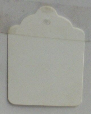 """Store Display Fixture 1000 NEW MERCHANDISE TAGS WHITE NO STRING 2-1/8"""" x 1.5"""""""