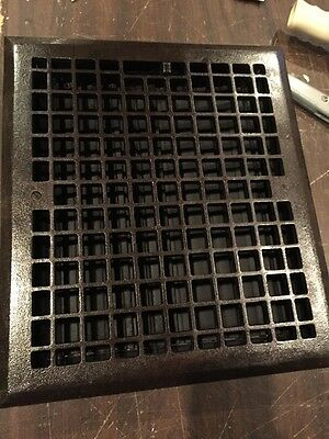 Ca 45 Antique Cleaned In Lacquered Floor Or Wall Mount Heating Grate 14 X 16""