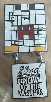 23rd Festival of the Masters 1998 Cubed Mickey Dangle LE Downtown Disney Pin