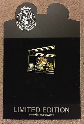 Disney Shopping Clapboard Beauty and the Beast Action 1991 Belle LE 500 Pin NEW