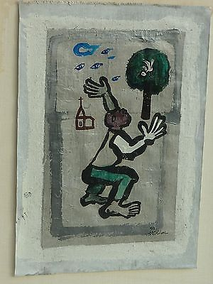 Korean artist KIM contemporary modernist painting with Surrealist subject