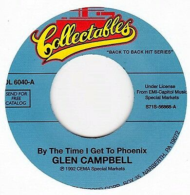 "Glen Campbell - By The Time I Get To Phoenix / Gentle On My Mind  7"" US Vinyl 45"