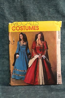 McCall's #3282 Costume  Ladies Tudor Gown  Size 6 - 10 Sewing Pattern
